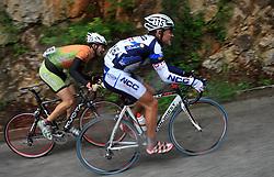 Blaz Furdi of Slovenia (Sava) and Francesco Reda of Italia (NGC Medical - OTC Indutria Porte)  during 3rd stage of the 15th Tour de Slovenie from Skofja Loka to Krvavec (129,5 km), on June 13,2008, Slovenia. (Photo by Vid Ponikvar / Sportal Images)/ Sportida)