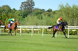 King's Vow and Donnacha O'Brien wins the Mortons Coaches Handicap at Leopardstown Racecourse.