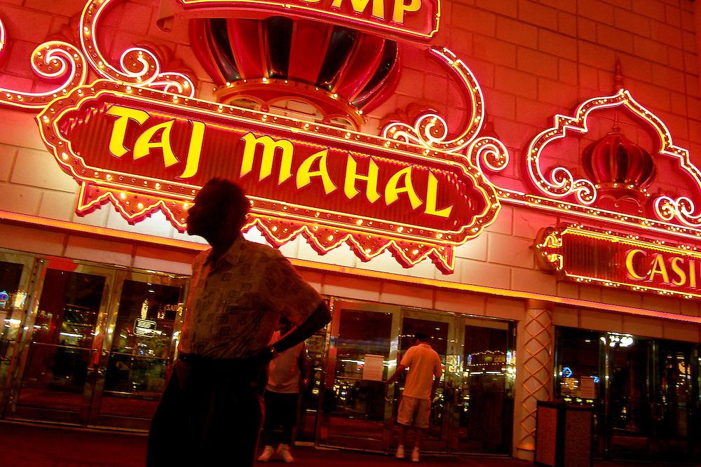 Impressions of Atlantic City, Aug. 4-5, 2005. Trump Taj Mahal Casino on the boardwalk.