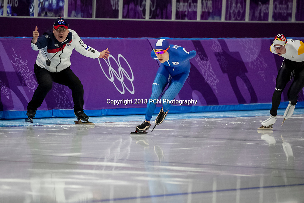 Seung Hoon Lee (KOR) competing in the men's  5000m speed skating at the Olympic Winter Games PyeongChang 2018