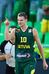 Renaldas Seibutis #10 of Lithuania during basketball match between national team of Ukraine and Lithuania of Eurobasket 2013 on September 15, 2013 in SRC Stozice, Ljubljana, Slovenia. (Photo By Matic Klansek Velej / Sportida.com)
