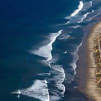 USA, California, San Diego. Aerial of Del Mar coast, San Diego.