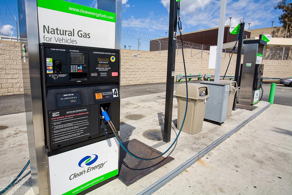 Natural Gas Fueling Station, Los Angeles, California, USA