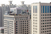 TAIYUAN, CHINA - AUGUST 07: (CHINA OUT) <br /> <br /> Antique Buildings Gets Built On Rooftop<br /> <br /> Antique Buildings gets built on a rooftop of a tall building at Pingyang road on August 7, 2014 in Taiyuan, Shanxi province of China.<br /> ©Exclusivepix
