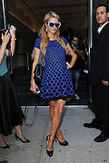 Sept. 7, 2014 - New York, NY, USA - September 7, <br /> <br /> Paris Hilton attending Diane Von Furstenberg fashion show during Mercedes-Benz Fashion Week Spring 2015 at Spring Studios on September 7, 2014 in New York City   <br /> ©Exclusivepix