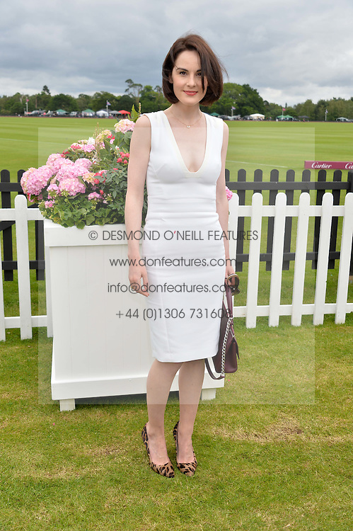 MICHELLE DOCKERY at the Cartier Queen's Cup Final polo held at Guards Polo Club, Smith's Lawn, Windsor Great Park, Egham, Surrey on 15th June 2014.