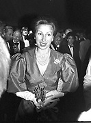 Princess Anne. Berkeley Square Ball. 16 July 1984.  SUPPLIED FOR ONE-TIME USE ONLY> DO NOT ARCHIVE. © Copyright Photograph by Dafydd Jones 66 Stockwell Park Rd. London SW9 0DA Tel 020 7733 0108 www.dafjones.com