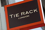 Sign for accessory shop Tie Rack.