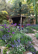 The Donkey Sanctuary: Donkeys Matter an artisan garden at the RHS Chelsea Flower Show 2019, London, UK