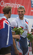 Amsterdam. NETHERLANDS.   CZE M1X, Ondrej SYNEK, Gold Medalist Men's Single scull.  De Bosbaan Rowing Course, venue for the 2014 FISA  World Rowing. Championships. 14:32:58  Sunday  31/08/2014.  [Mandatory Credit; Peter Spurrier/Intersport-images]