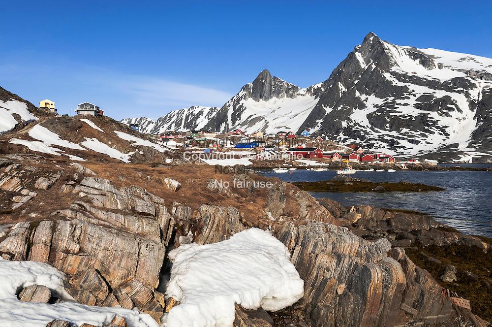 Groenland, Sermersooq, village de Kuummiut // Greenland, Sermersooq, Kuummiut village