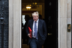 © Licensed to London News Pictures. 14/11/2017. London, UK. Foreign Secretary Boris Johnson leaves 10 Downing Street after the weekly Cabinet meeting. Photo credit: Rob Pinney/LNP