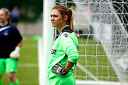 Sophie Kemp watching the warm up before the Pre-Season Friendly match between Crystal Palace LFC and Queens Park Rangers Ladies at the The Stadium, Bromley, United Kingdom on 19 July 2015. Photo by Michael Hulf.