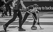 """Glasgow. SCOTLAND.  Ross PATTERSON,  """"Sweeping"""",  """"Round Robin"""" Game. Le Gruyère European Curling Championships. 2016 Venue, Braehead  Scotland<br /> Tuesday  22/11/2016<br /> <br /> [Mandatory Credit; Peter Spurrier/Intersport-images]"""