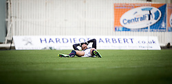 Falkirk's Taylor Morgan after missing a chance. <br /> Falkirk 2 v 1 Brechin City, Scottish Cup fifth round game played today at The Falkirk Stadium.