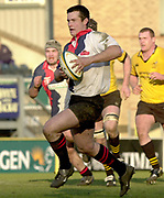 Wycombe, Buckinghamshire, 29th February 2004, Adams Park, [Mandatory Credit; Peter Spurrier/Intersport Images],<br /> 29/02/2004  -  Powergen  Cup - London Wasps v Pertemps Bees<br /> Bees Shaun Woof on the attack.