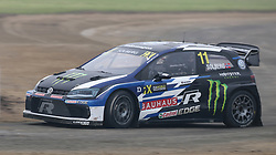 Petter Solberg during day two of the 2018 FIA World Rallycross Championship at Silverstone, Towcester.