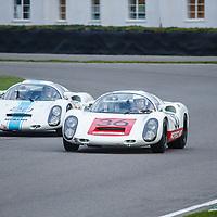 Whitsun Trophy, Official Practice (20 mins) Saturday 09h20<br /> #36 - 1967 Porsche 910; #20 - 1968 Porsche 910 at Goodwood SpeedWeek 16 - 18 October 2020