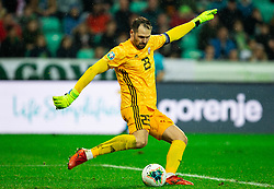 Pavels Steinbors of Latvia during the 2020 UEFA European Championships group G qualifying match between Slovenia and Latvia at SRC Stozice on November 19, 2019 in Ljubljana, Slovenia. Photo by Vid Ponikvar / Sportida