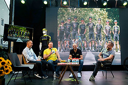 Tomaz Kovsca, Luka Mezgec and Martin Hvastija at Reception of Slovenian rider Luka Mezgec after  he finished his first Tour de France 2020 and placed second at 2 stages, on September 21, 2020 in Joze Plecnik garden, Ljubljana, Slovenia. Photo by Vid Ponikvar / Sportida