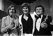 1980-03-09.9th March 1980.09-09-1980.03-09-80..Photographed at RTE Montrose, Dublin..What's Another Year..From Left:..Shay Healey, who wrote the winning song What's Another Year..Johnny Logan, the winning singer..Larry Gogan, Compere.