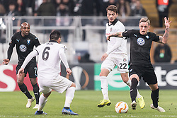 (L-R) Fouad Bachirou of Malmo FF, Gary Alexis Medel Soto of Besiktas JK , Adem Ljajic of Besiktas JK , Soren Rieks of Malmo FF during the UEFA Europa League group I match between between Besiktas AS and Malmo FF at the Besiktas Park on December 13, 2018 in Istanbul, Turkey