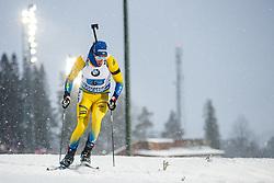 March 16, 2019 - –Stersund, Sweden - 190316 Sebastian Samuelsson of Sweden competes in the Men's 4x7,5 km Relay during the IBU World Championships Biathlon on March 16, 2019 in Östersund..Photo: Johan Axelsson / BILDBYRÃ…N / Cop 245 (Credit Image: © Johan Axelsson/Bildbyran via ZUMA Press)