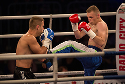 Gregor Stracanek and Luka Tomic, during the WBO-European Champion Title, on October 17, 2014 in Arena Tabor, Maribor, Slovenia. Photo by Gregor Krajncic / Sportida.com