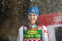 Petra Vlhova (SVK) celebrating after the Ladies' Slalom at 56th Golden Fox event at Audi FIS Ski World Cup 2019/20, on February 16, 2020 in Podkoren, Kranjska Gora, Slovenia. Photo by Matic Ritonja / Sportida