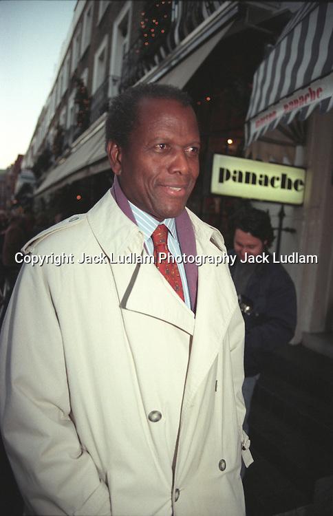Sidney Poitier Beauchamp Place London 7 Dec 1996