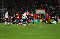 Football - 2017 / 2018 Premier League - AFC Bournemouth vs. Liverpool<br /> <br /> Mohamed Salah of Liverpool fires past the outstretched arms of Bournemouth's Asmir Begovic at Dean Court (Vitality Stadium) Bournemouth <br /> <br /> COLORSPORT/SHAUN BOGGUST