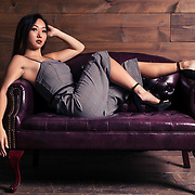 Studio fashion shoot with Los Angeles model, Maika Miwa. Images made at FD Photo Studios Art 4 on October 18, 2018 in Downtown Los Angeles, California.  ©Michael Der, All Rights Reserved.
