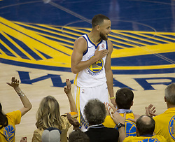 May 31, 2018 - Oakland, California, U.S - Stephen Curry #30 of the Golden State Warriors, during   their NBA Championship Game 1 with the Cleveland   Cavaliers at Oracle Arena in Oakland, California on  Thursday,  May 31, 2018. (Credit Image: © Prensa Internacional via ZUMA Wire)
