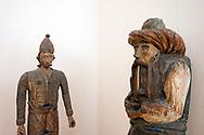 Beehives in the shape of human figures, Beekeeping Museum, Radovljica, Slovenia © Rudolf Abraham