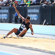 Chris Benard, USA, in action in the Men's Triple Jump Competition during the Diamond League Adidas Grand Prix at Icahn Stadium, Randall's Island, Manhattan, New York, USA. 13th June 2015. Photo Tim Clayton