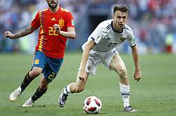 July 1, 2018 - Moscow, Russia - Round of 16 Russia v Spain - FIFA World Cup Russia 2018.Aleksandr Golovin (Russia) at Luzhniki Stadium in Moscow, Russia on July 1, 2018. (Credit Image: © Matteo Ciambelli/NurPhoto via ZUMA Press)
