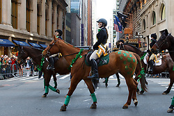 Participants march on the Fifth Avenue during the 255th St. Patrick's Day parade in New York, the United States on March 17, 2016. Hundreds of thousands of people gathered alongside New York's Fifth Avenue to watch the St. Patrick's Day Parade here on Thursday. EXPA Pictures © 2016, PhotoCredit: EXPA/ Photoshot/ Li Muzi<br /> <br /> *****ATTENTION - for AUT, SLO, CRO, SRB, BIH, MAZ, SUI only*****