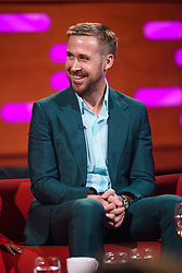 Ryan Gosling during the filming of the Graham Norton Show at BBC Studioworks 6 Television Centre, Wood Lane, London, to be aired on BBC One on Friday evening.