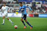 Dele Alli of Tottenham Hotspur in action.Barclays premier league match, Swansea city v Tottenham Hotspur at the Liberty Stadium in Swansea, South Wales on Sunday 4th October 2015.<br /> pic by  Andrew Orchard, Andrew Orchard sports photography.