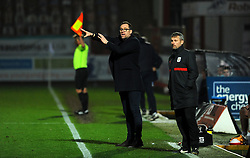 Crewe Alexandra manager David Artell gestures- Mandatory by-line: Nizaam Jones/JMP - 28/11/2020 - FOOTBALL - Jonny-Rocks Stadium - Cheltenham, England - Cheltenham Town v Crewe Alexandra - Emirates FA Cup second round