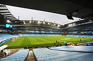 General View inside the Etihad Stadium during the Premier League match between Manchester City and Burnley at the Etihad Stadium, Manchester, England on 28 November 2020.