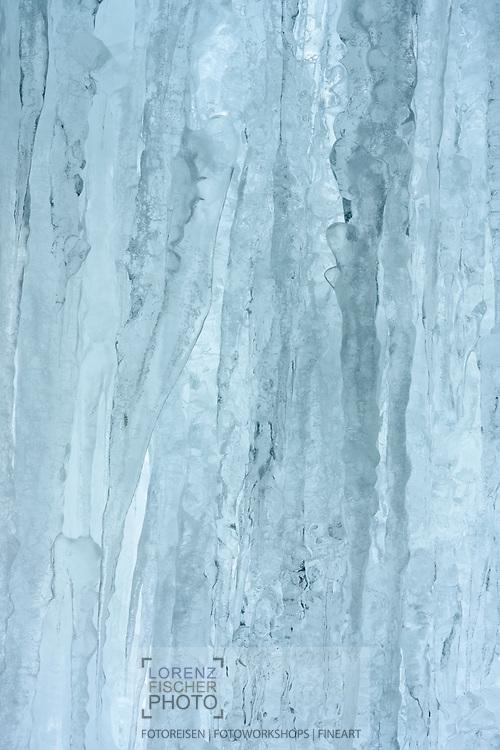 Frozen Waterfall, Parc Ela, Grisons, Switzerland