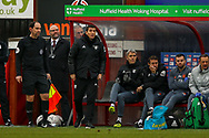 Watford Manager Javi Garcia shouts to his team during the The FA Cup 3rd round match between Woking and Watford at the Kingfield Stadium, Woking, United Kingdom on 6 January 2019.