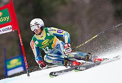 Forerunner Luka Vidic of Slovenia during the 1st Run of 7th Men's Giant Slalom - Pokal Vitranc 2013 of FIS Alpine Ski World Cup 2012/2013, on March 9, 2013 in Vitranc, Kranjska Gora, Slovenia. (Photo By Vid Ponikvar / Sportida.com)