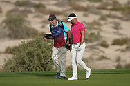 Lee Slattery (ENG) in action during the second round of the Omega Dubai Desert Classic, Emirates Golf Club, Dubai, UAE. 25/01/2019<br /> Picture: Golffile | Phil Inglis<br /> <br /> <br /> All photo usage must carry mandatory copyright credit (© Golffile | Phil Inglis)
