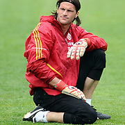 Galatasaray's players goalkeeper Leo FRANCO during their training session at the Jupp Derwall training center, Tuesday, April 20, 2010. Photo by TURKPIX