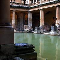 Medieval King's Bath hot spring-Bath, England
