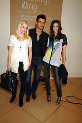 Left to right,  ANNABELLE HORSEY, DAVID GANDY and CHLOE PRIDHAM at a private view of Bryan Adam's photographs entitled 'Modern Muses' held at The National Portrait Gallery, London on 11th March 2008.<br /><br />NON EXCLUSIVE - WORLD RIGHTS