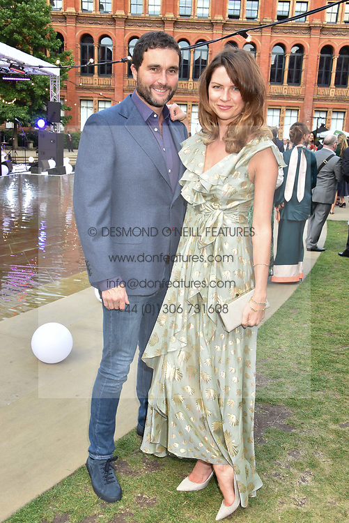 David Peacock and Gabriella Peacock at the Victoria & Albert Museum's Summer Party in partnership with Harrods at The V&A Museum, Exhibition Road, London, England. 20 June 2018.