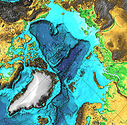 """January 15, 2003 hydrothermal vents in the Arctic Ocean. """"On the Gakkel Ridge, which is in the Arctic Ocean between Greenland and Siberia,  evidence of nine to 12 hydrothermal vents along about 680 miles of the rift valley,"""" NOAA"""